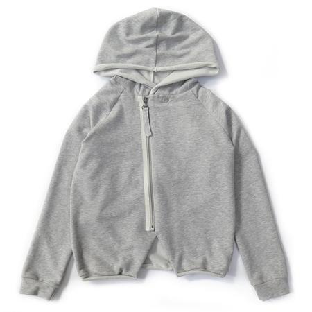 kids treehouse lavoni hoodie - grey marl