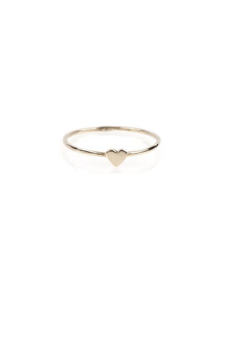 Catbird Heart Ring, 14K Yellow Gold