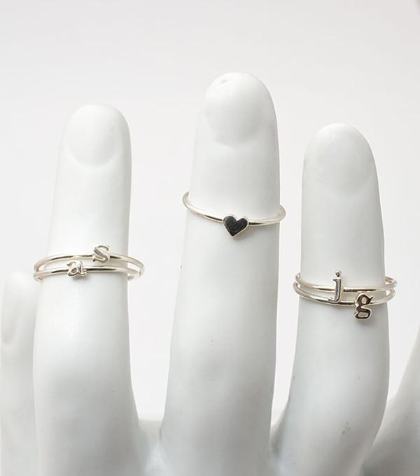 Catbird Heart Ring, Sterling Silver