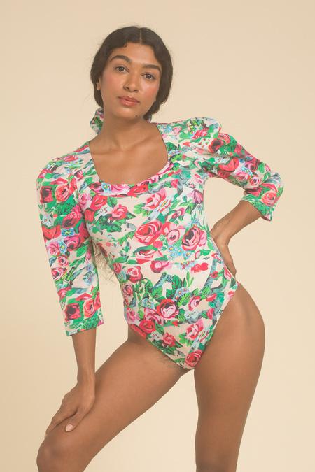 Samantha Pleet Venus Bodysuit - Floral