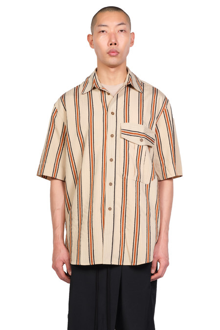 Song for the Mute S/S Military Shirt - Sand