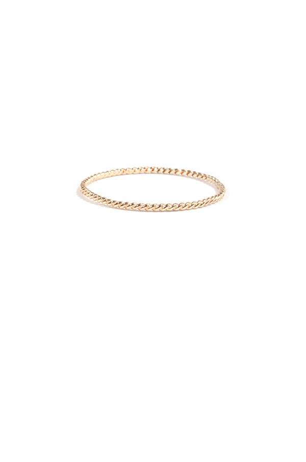 Catbird Twisted Stacker Ring, 14K Yellow Gold