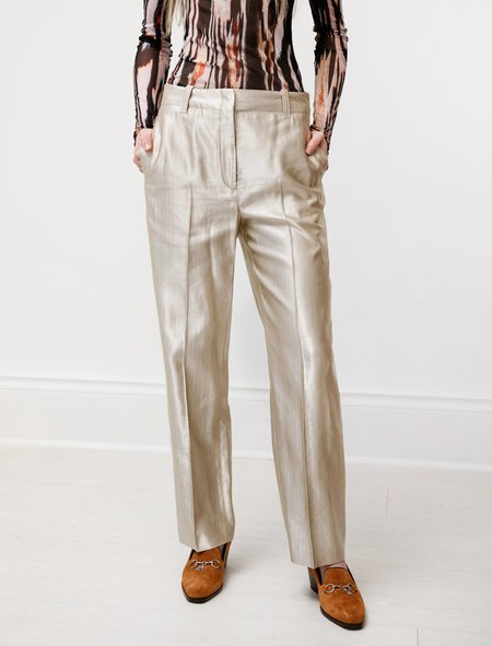 Our Legacy Service Trouser - Beige Stripe