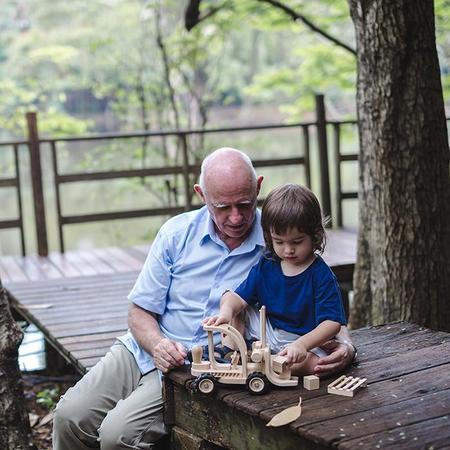 KIDS Plan Toys Wooden Forklift Truck