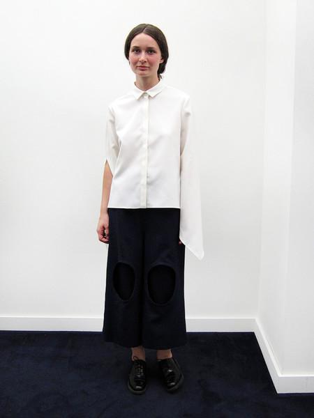Andrea Jiapei Li Shirt with Knot