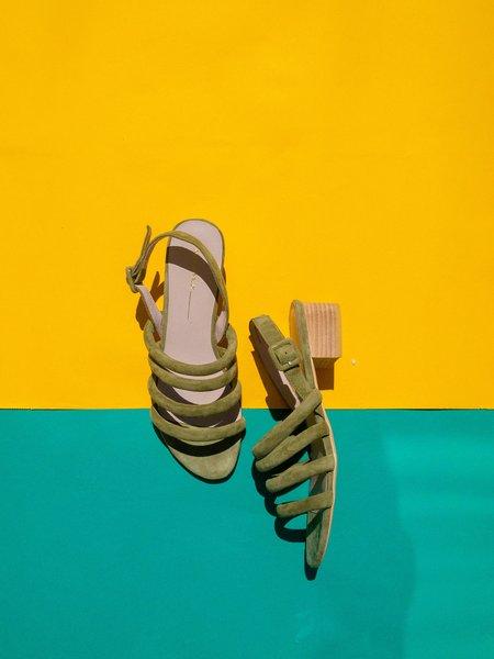 """INTENTIONALLY __________."" helda sandal - sage"