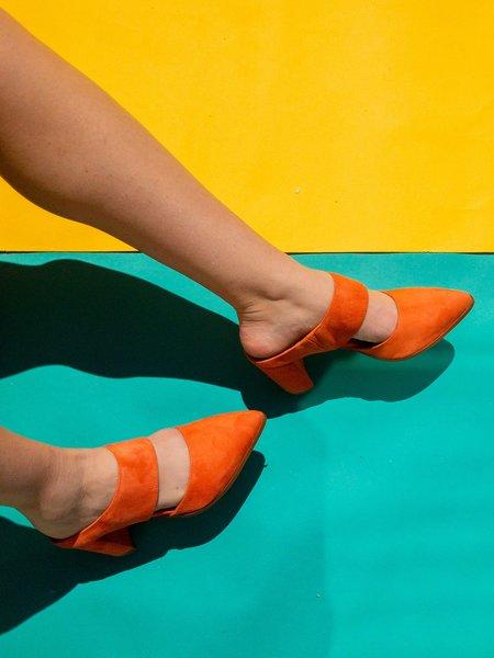 """""""INTENTIONALLY __________."""" missy Mule - sunset orange"""