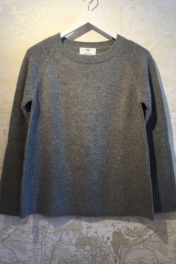 Allude A-line cashmere sweater