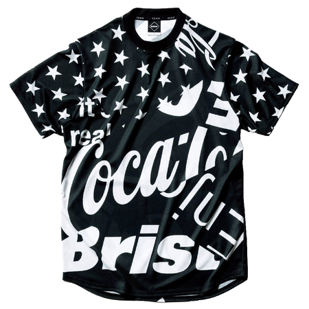 F.C. Real Bristol Coca-Cola Multi Pattern Short Sleeve Top - Black