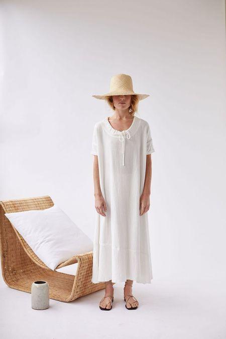 RABA MARFA Worn LONG DRAWSTRING DRESS