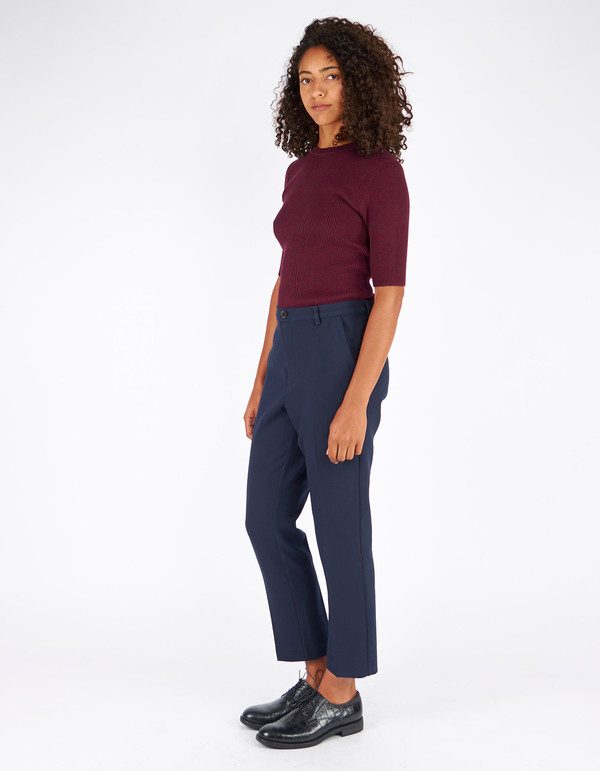 Ganni Harrison T-Shirt Cabernet Eclipse Melange