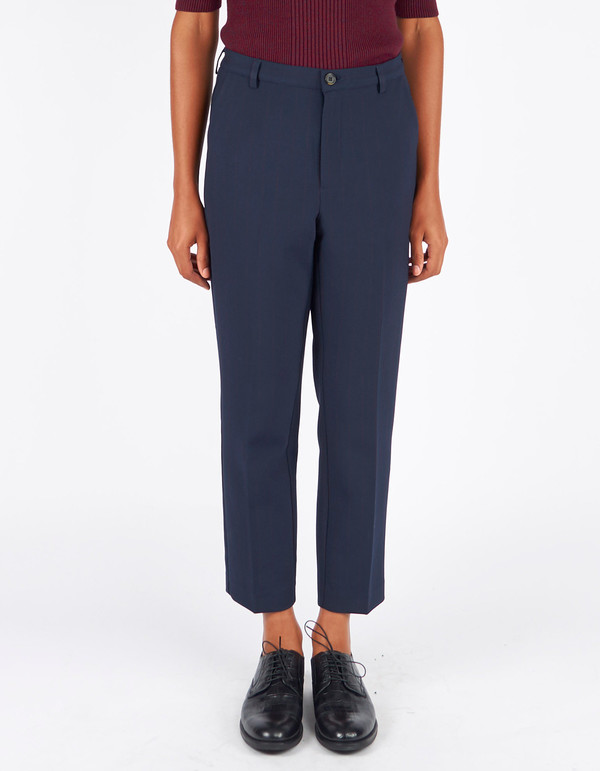 Ganni Moscow Tailor Pants Total Eclipse