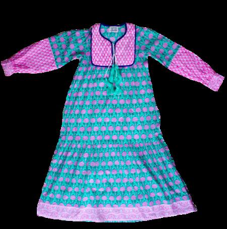 SZ Jodhpur Dress - Mint Pineapple