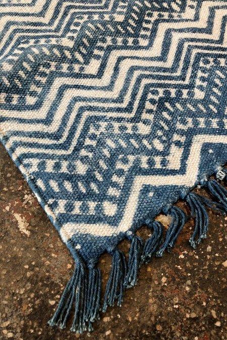 ALTER Indigo rug 2x3 - zig zag print