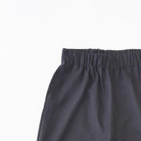 Open Air Museum Black Raw Silk Pant
