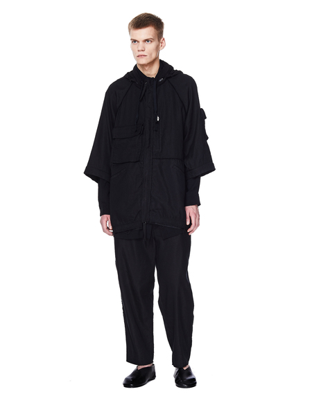 Ziggy Chen Cotton and Linen Jacket - black