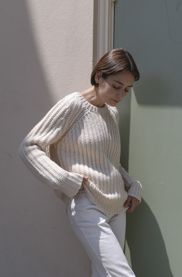 Objects Without Meaning Rib Sweater in Oat
