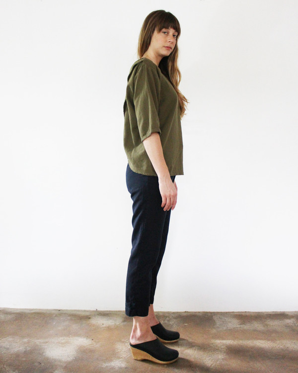 Esby LAURA OPEN BACK TOP - OLIVE