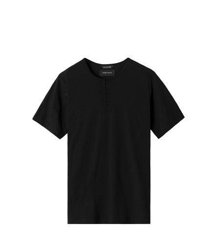 Wings+Horns Knit Cashmere Henley - Black