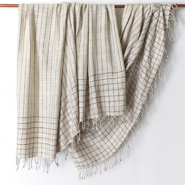 Sustainable Threads Hand-spun Gridded Throw