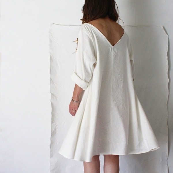 Hemp Silk Twirl Dress, Natural