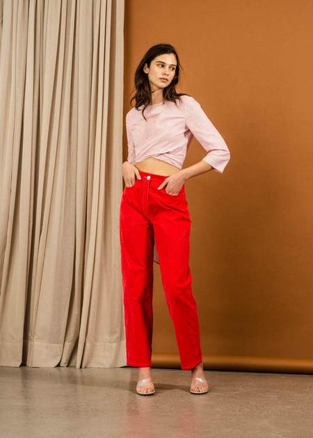 Penny Sage Hector Trouser - Poppy
