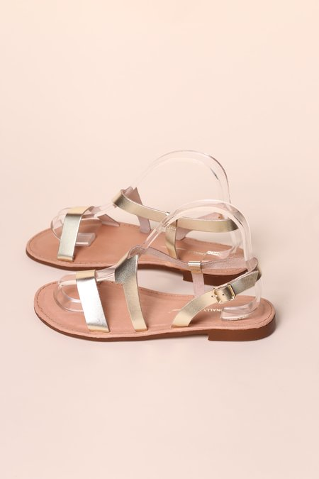 """INTENTIONALLY __________."" ANAPHORA Sandal - Gold"