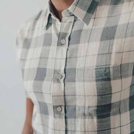 The Normal Brand Skipper Shirt - Mineral Blue