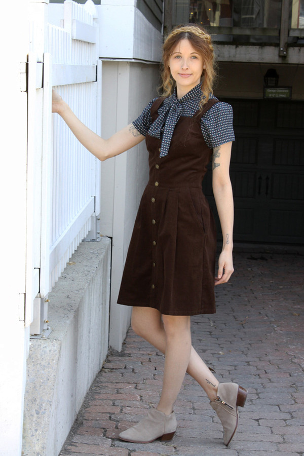 Birds of North America Brolga Dress - Brown