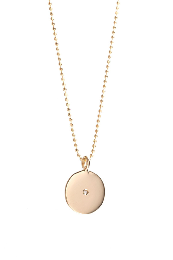 Ariel Gordon Little Circle Pendant Necklace