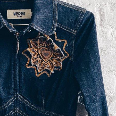 [pre-loved] Moschino Jeans Denim Jacket - dark blue