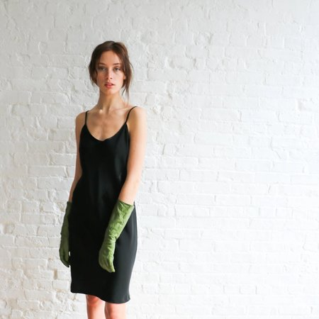 [pre-loved] Price Roman Mini Slip Dress - black