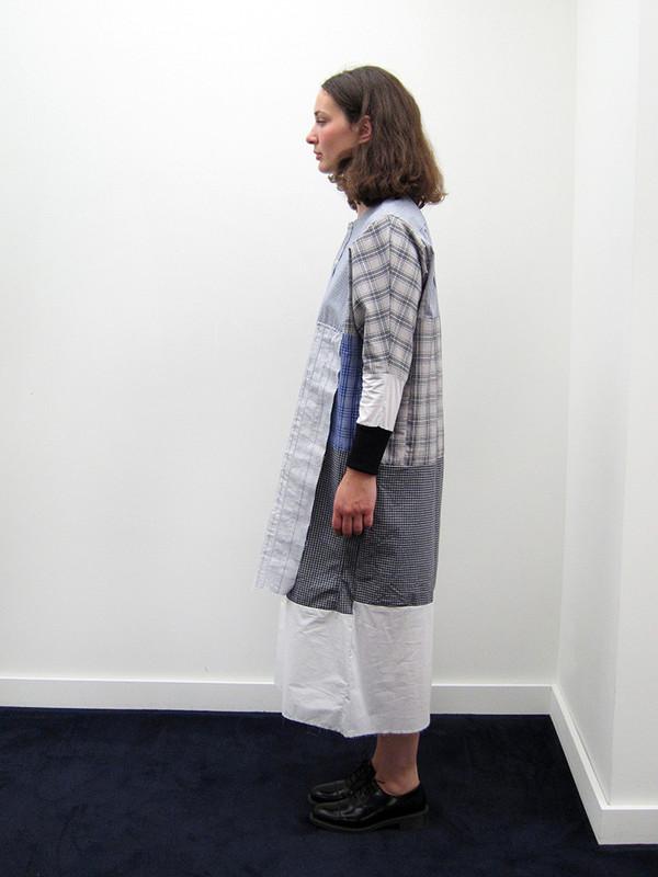 Alexa Stark Repurposed MultiPlaid Shirt Dress