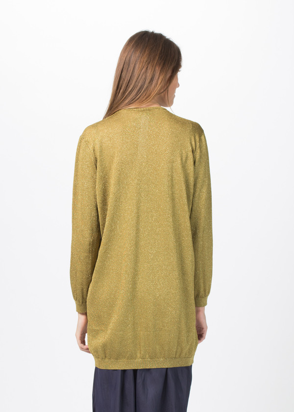 Sara Lanzi Knit Lurex Long Sleeve Pullover