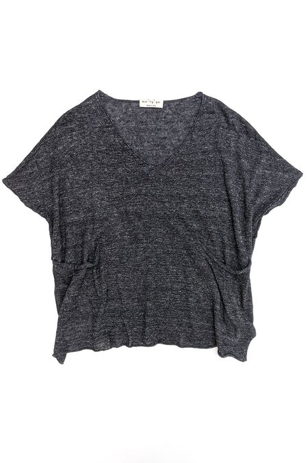 Ma'ry'ya Pocket Knit tee - Dark Grey