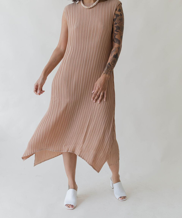 Objects Without Meaning Objects Without Nude Knife Pleat Dress