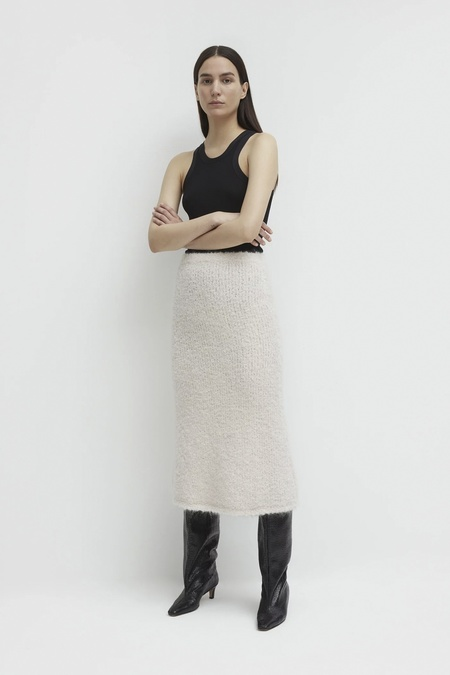 Totême KNITTED BOUCLE A LINE SKIRT TOTEME
