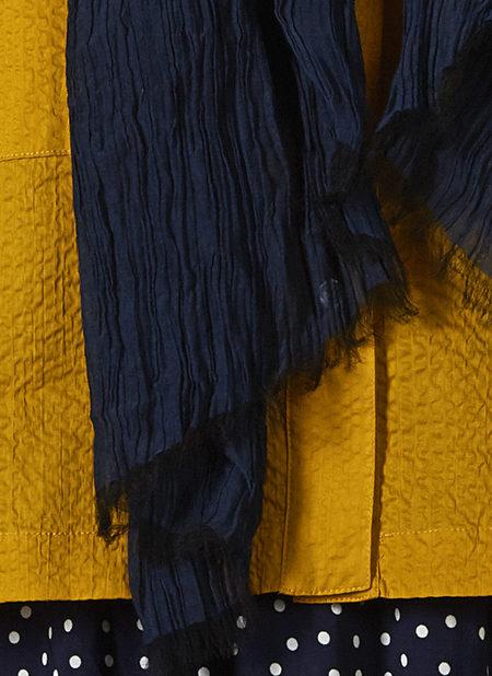 GREI. SILK COTTON CRINKLE SCARF - MIDNIGHT BLUE