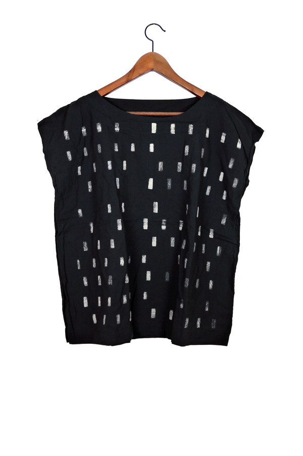 Uzi NYC Black Disko Tunic