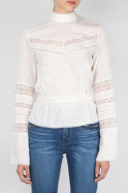 Derek Lam 10 Crosby L/S High Collar Blouse