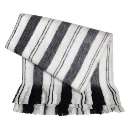 Archive New York Fuzzy Blanket - Grey/Black/White