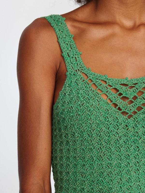Harare CROCHET MINI DRESS / GREEN