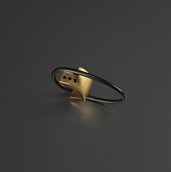 Bande des Quatres Hadid Ring
