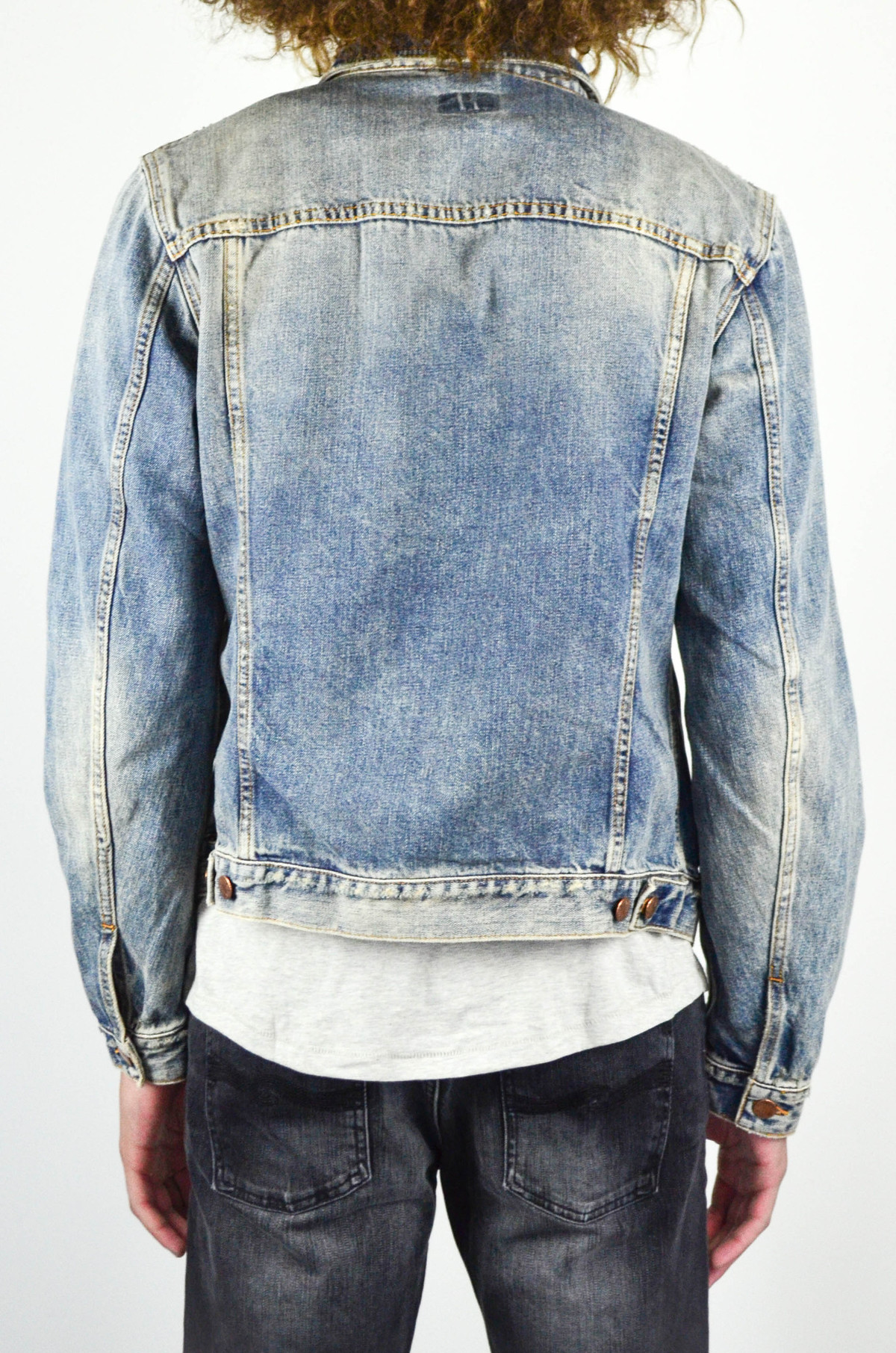 2cd1a25eb0 Men s Nudie Billy Shimmering Indigo Denim Jacket
