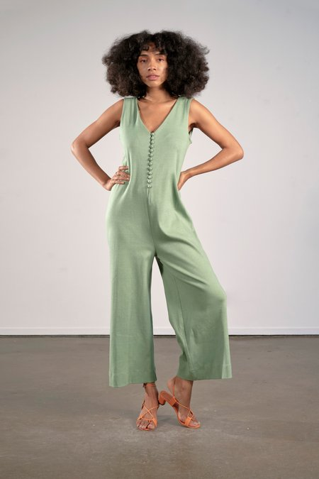 Maria Stanley Organic Earth Dyed Mercury Jumpsuit - Mint