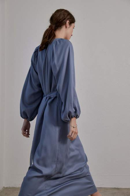 OVNA OVICH Isadora Dress - Smokey Blue Tencel