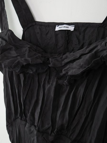 hazel brown silk sundress - black