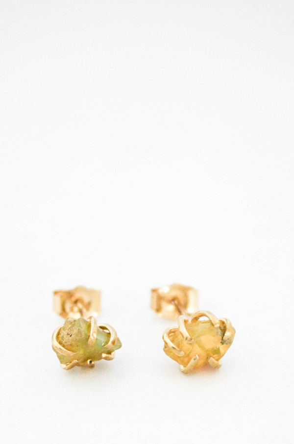 T.Kahres Opal Rough Cage Studs