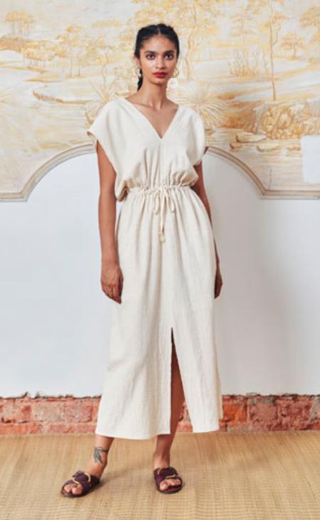 ALOJA Cotton Aish Ava Dress - Natural