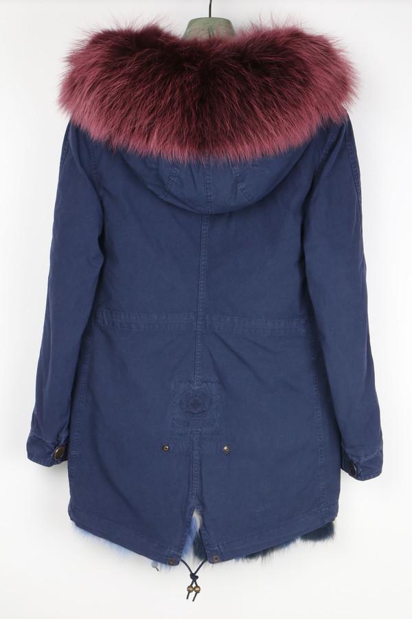 Mr & Mrs Italy Canvas Fur-Trimmed Mini-Parka